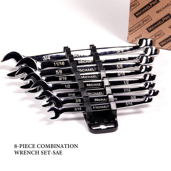 MP001014 8-piece SAE Combination Wrench Tool Set