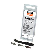 Load image into Gallery viewer, QUIK DRIVE #2 Square Drive Bit 3-Pack - Order Simpson