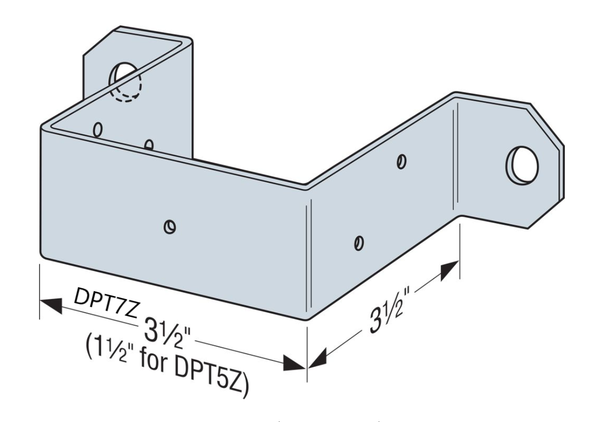 DPTZ Deck Post Tie - Order Simpson