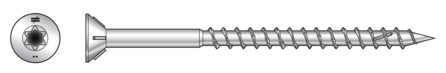 Deck-Drive™ STAINLESS WOOD-TO-WOOD Screw (Collated) - The Woodshed