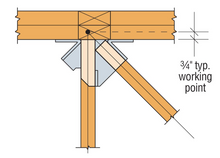 Load image into Gallery viewer, LTHJA Multiple-Truss Hip/Jack Hanger - The Woodshed