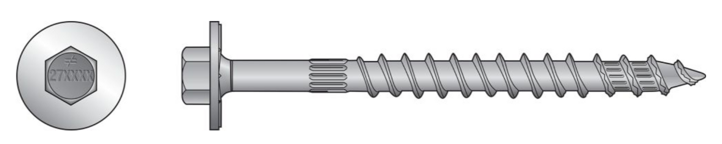 Strong-Drive SDWH TIMBER-Hex Screw (Hot Dip Galvanized) - The Woodshed