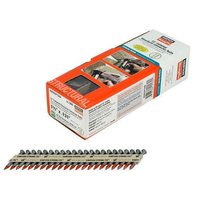 8d x 1-1/2 in. Hot-Dip Galvanized 33d Collated Structural Connector Nails - Order Simpson