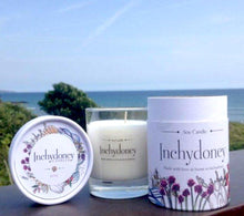 Load image into Gallery viewer, Inchydoney Glass Soy Wax Candle in Keepsake Box - Strelitzia's Floristry & Irish Craft Shop