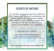Load image into Gallery viewer, Glengarriff Organic Soy Candle - Soothe & Restore - Strelitzia's Floristry & Irish Craft Shop