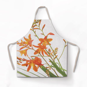 Montbretia Hand Painted Apron and Oven Gloves - Strelitzia's Floristry & Irish Craft Shop