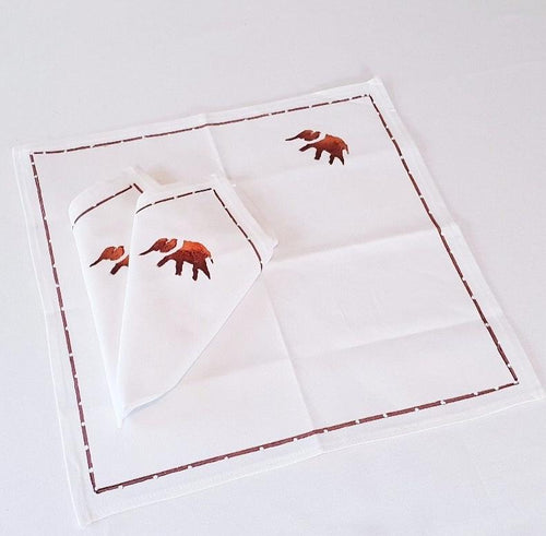 Elephant Napkins (Set of 4) - Strelitzia's Floristry & Irish Craft Shop
