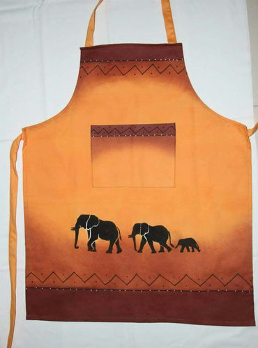 Elephant Apron Hand Painted - Strelitzia's Floristry & Irish Craft Shop