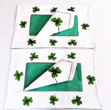 Load image into Gallery viewer, Irish Shamrock Table Placemats (Set of 4) - Strelitzia's Floristry & Irish Craft Shop
