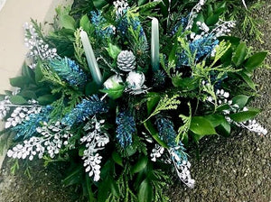 Christmas Fresh Table Centrepiece Display - Strelitzia's Floristry & Irish Craft Shop