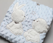 Load image into Gallery viewer, Baby Minky Soft Blanket - Bunny and Bear - Strelitzia's Floristry & Irish Craft Shop