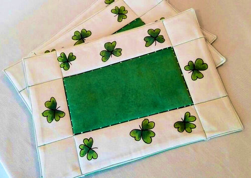 Irish Shamrock Table Placemats (Set of 4) - Strelitzia's Floristry & Irish Craft Shop
