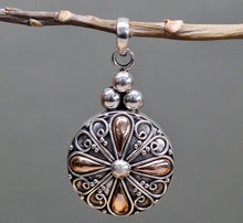 Load image into Gallery viewer, Round drop Silver & Gold Pendant and Chain - Strelitzia's Floristry & Irish Craft Shop