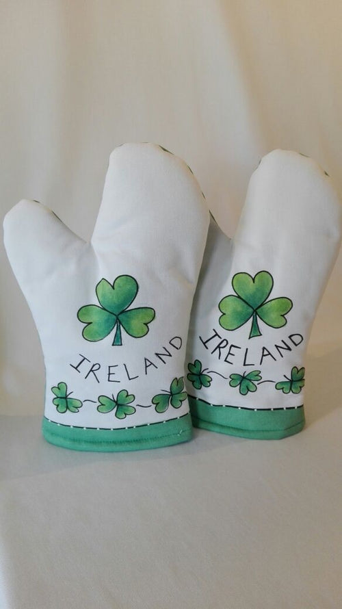 Irish shamrock Oven gloves - Pair (Set of 2) - Strelitzia's Floristry & Irish Craft Shop