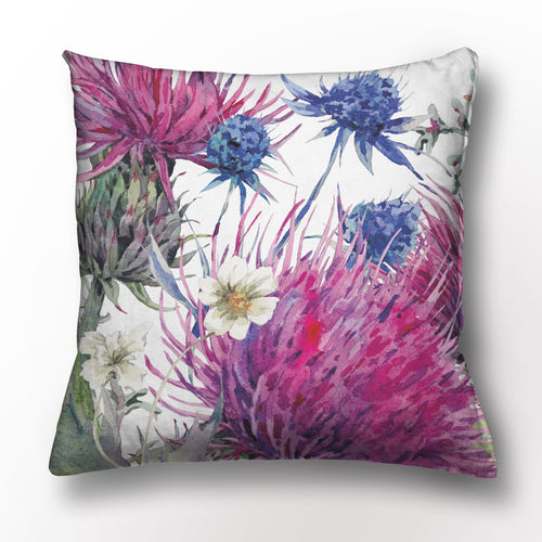 Thistle Hand Painted Cushion (45cm x 45cm) - Strelitzia's Floristry & Irish Craft Shop