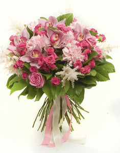 Pretty in Pink Spring - Flower Bouquet - Strelitzia's Floristry & Irish Craft Shop