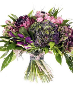 Protea Blush Fresh Flower Bouquet - Strelitzia's Floristry & Irish Craft Shop