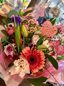 Wild Pink Fresh Flower Bouquet - Strelitzia's Floristry & Irish Craft Shop