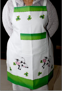 Irish Cow Apron Hand Painted - Strelitzia's Floristry & Irish Craft Shop