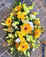 Load image into Gallery viewer, Funeral Wreath - Yellow - Strelitzia's Floristry & Irish Craft Shop