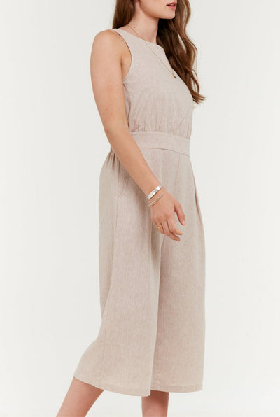 Sleeveless Deep V Back Jumpsuit