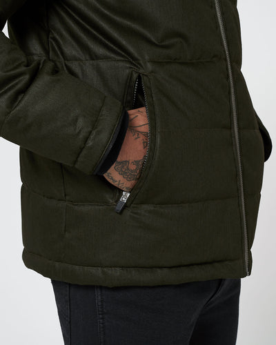 Men's Nordic Puffer - Deep Army Green