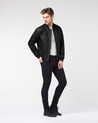 Men's Quilted Bomber - Black