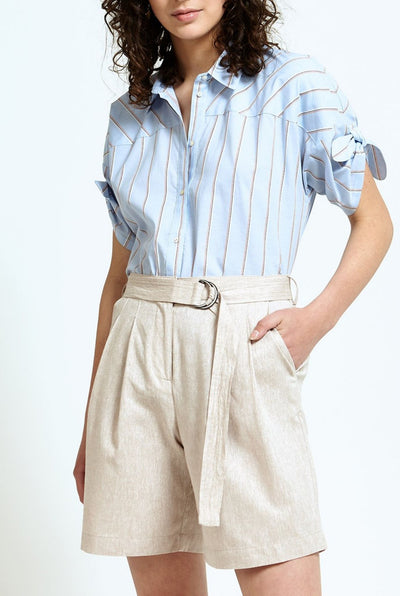 Belted Wide Leg Shorts