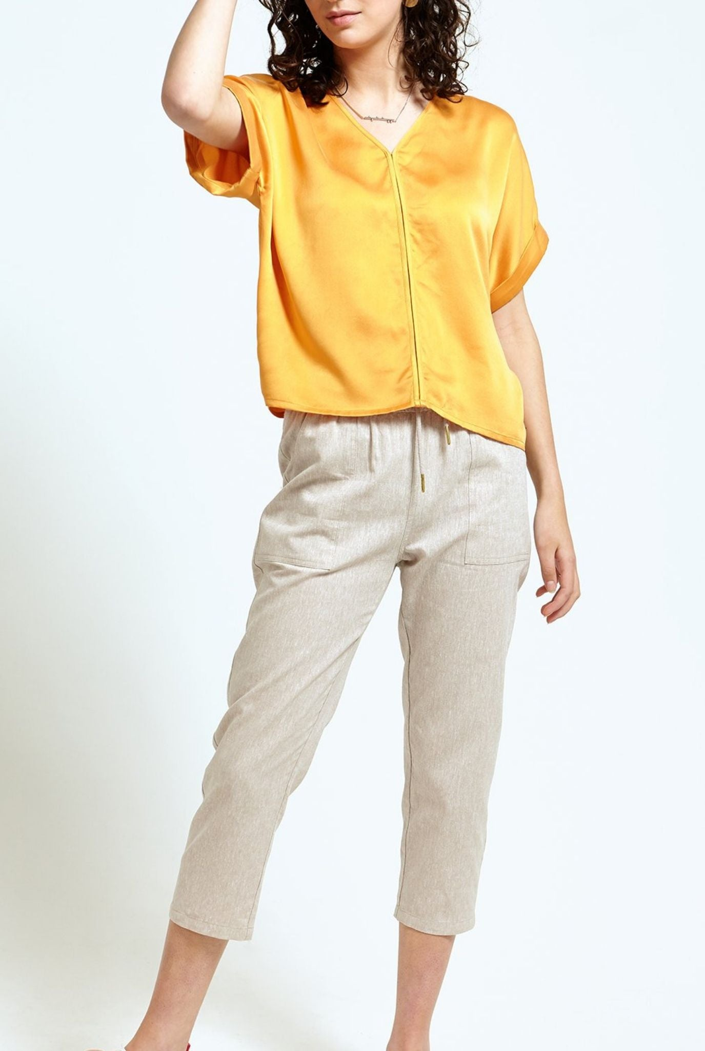 Drawstring Crop Pants