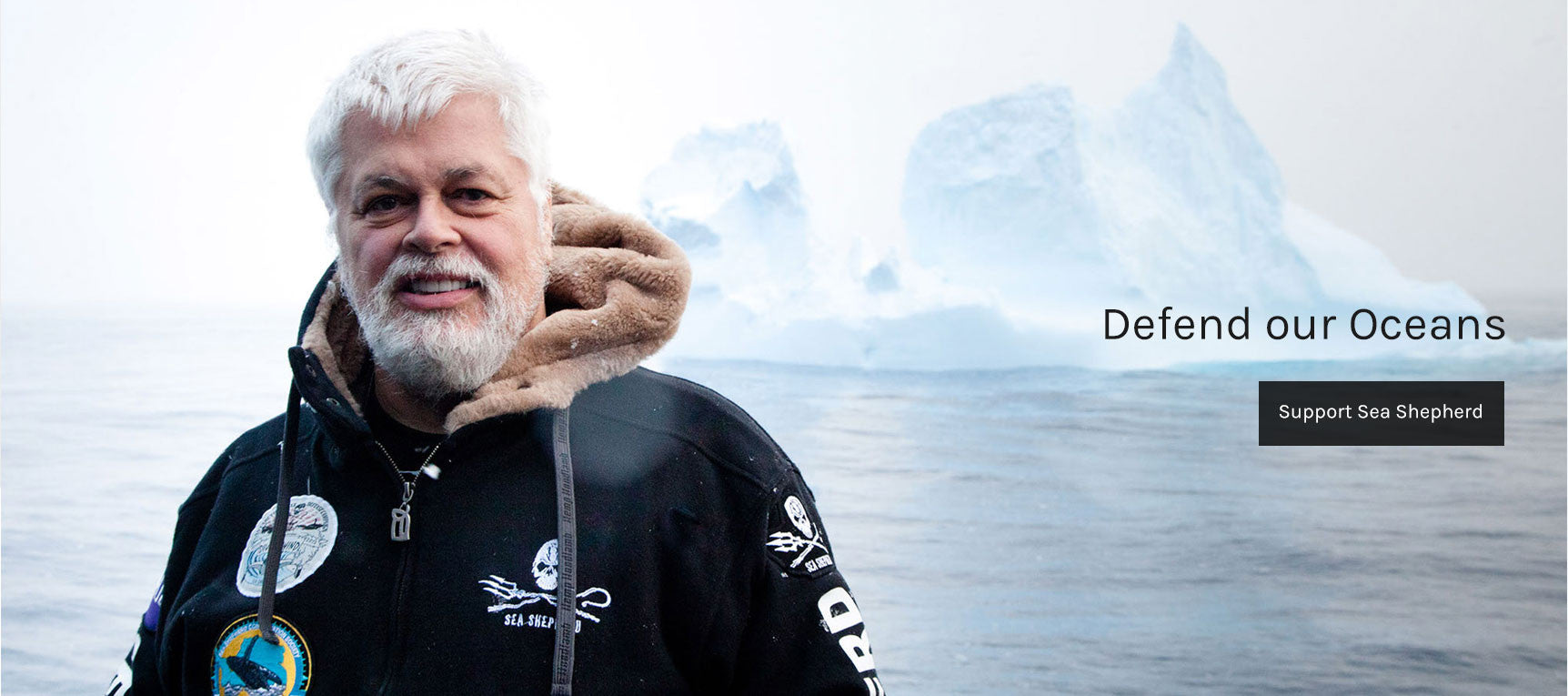 Captain Paul Watson from Sea Shepherd - Shop to support!