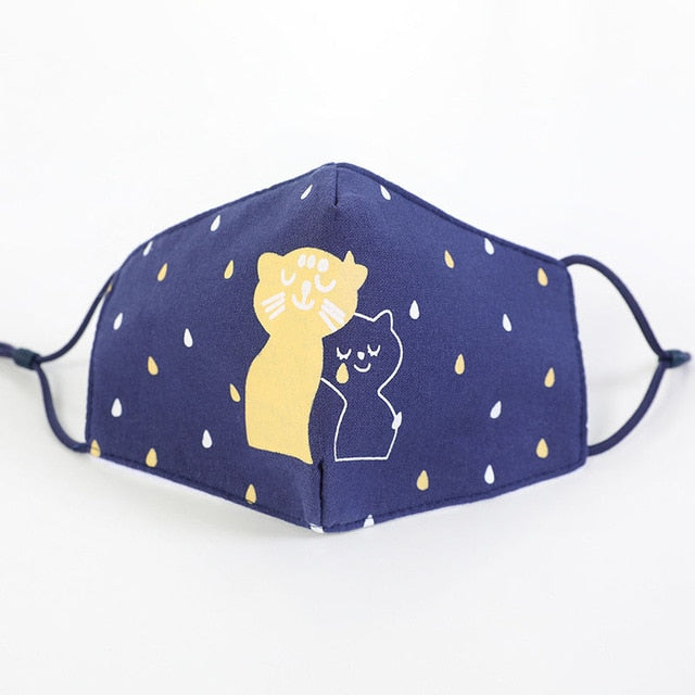 Kitty Love Kids Face Mask Non Medical - Nuzzles Masks
