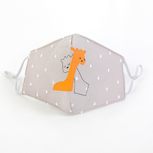 Giraffe Hugs Kids Face Mask Non Medical - Nuzzles Masks