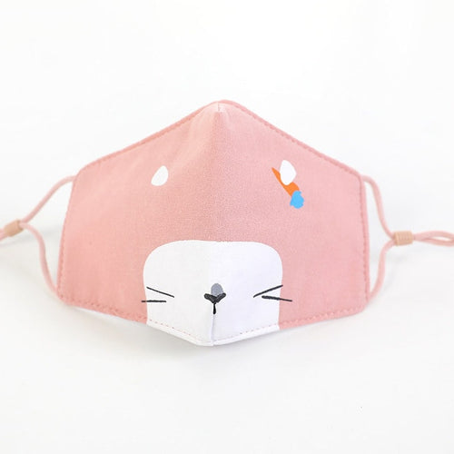 Awesome Possum Kids Face Mask (Peach) Non Medical - Nuzzles Masks