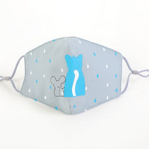 Cat and Mouse Kids Face Mask Non Medical - Nuzzles Masks