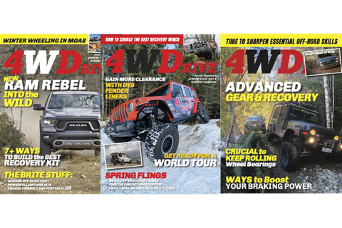 Get your subscription to 4WDrive Magazine from right here at 4WD Supply today and save!