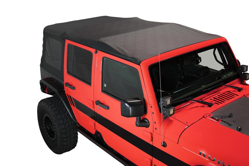 Jeep JK Replacement Soft Top Tinted Windows For 07-09 Wrangler JK 4 Door Black Diamond King 4WD