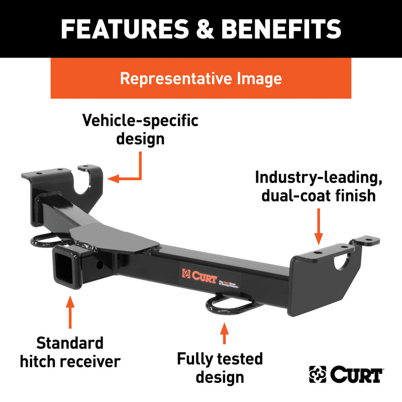 "CURT - 2"" Front Receiver Hitch, Select Chevrolet Silverado, GMC Sierra 2500, 3500 HD - 31109"