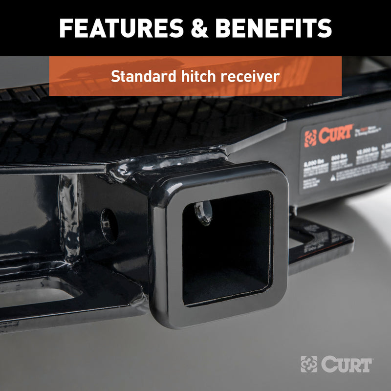 CURT - CURT 31221 2-Inch Front Receiver Hitch, Select Chevrolet Colorado, GMC Canyon - 31221