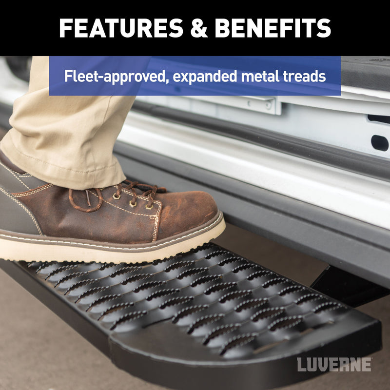 "LUVERNE - Grip Step XL 9-1/2"" x 54"" Steel Passenger-Side Running Board (No Brackets) - 495154"
