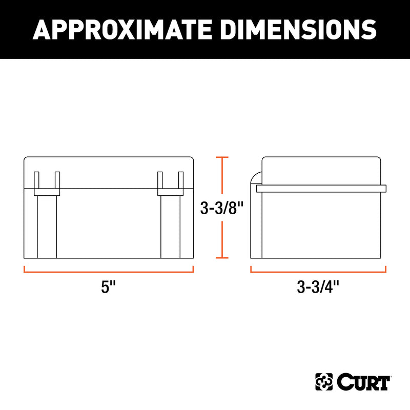 "CURT - 5"" x 3-3/8"" x 3-3/4"" Watertight Breakaway Battery Case - 52027"