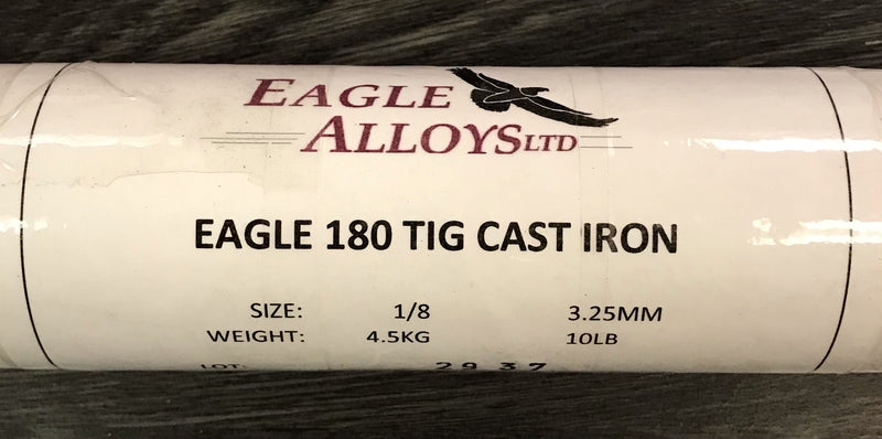 Eagle 180 TIG - This TIG wire can be used to weld gray, ductile and nodular cast iron