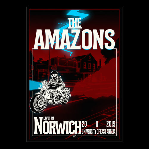 The Amazons - Live In Norwich A2 Poster