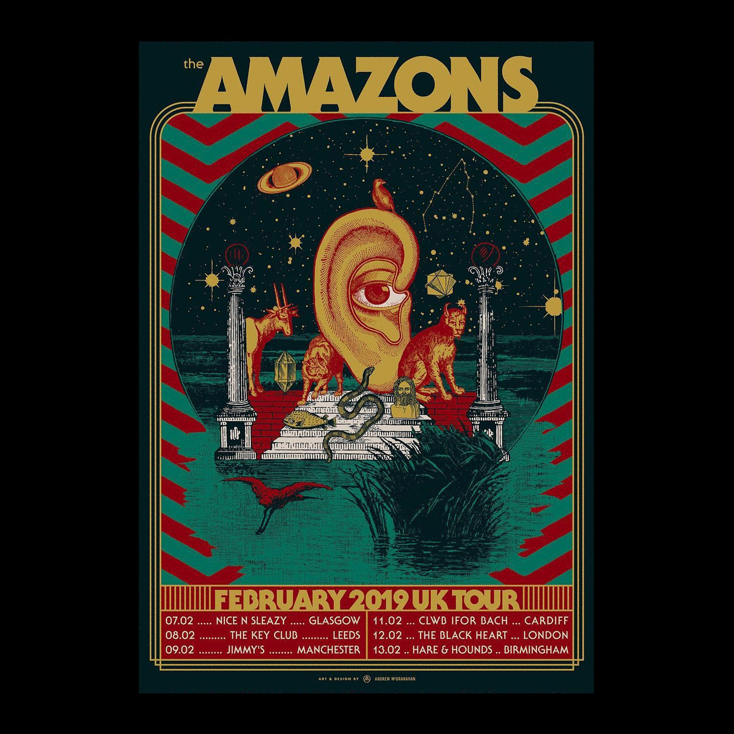 The Amazons February Tour Poster 42.8 x 60.5 cm