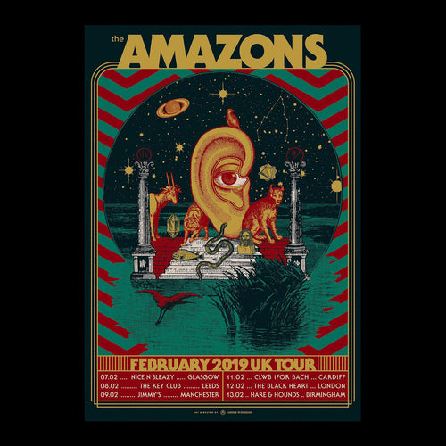 The Amazons February Tour Poster 59.5 x 84 cm