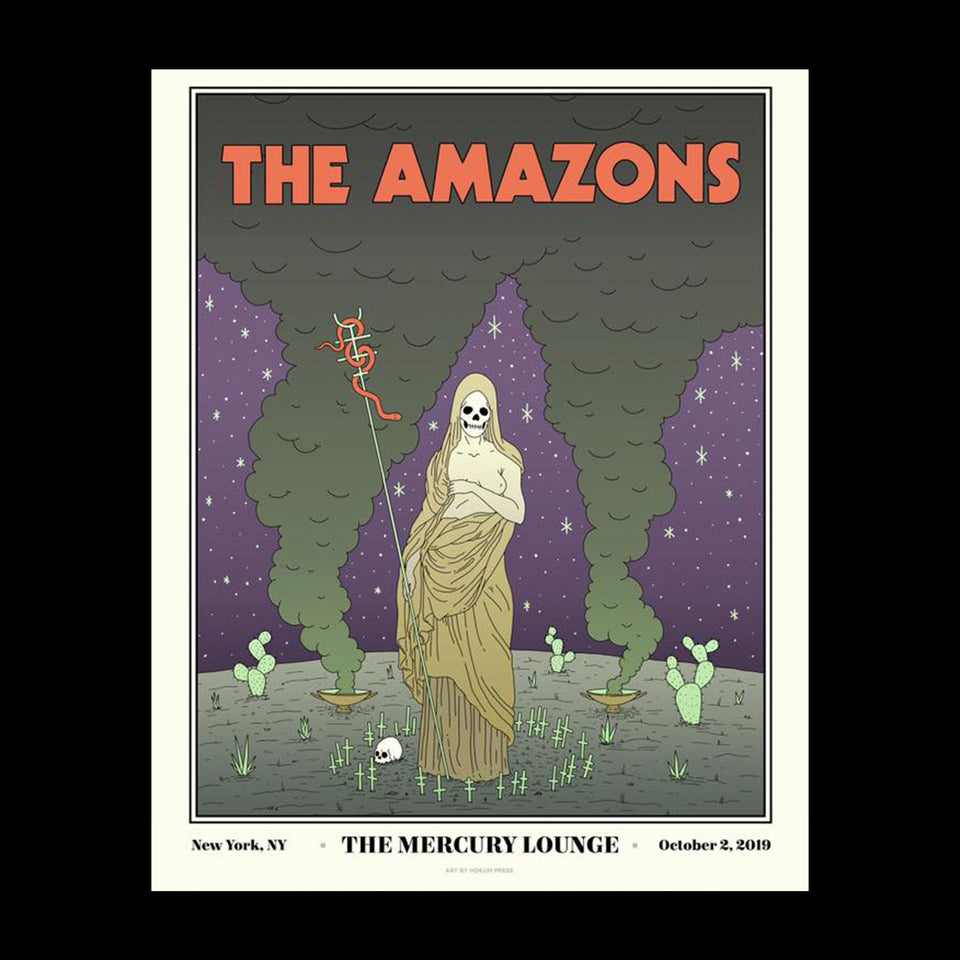 The Amazons NYC Mercury Lounge Poster 45.5 x 60.8 cm