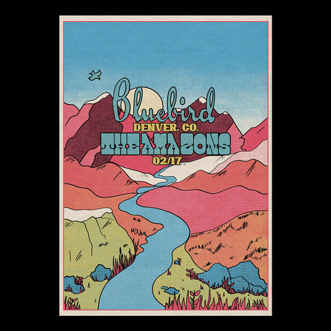 The Amazons - Denver Bluebird A3 Poster
