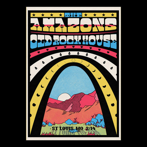 The Amazons - St Louis Old Rockhouse A3 Poster
