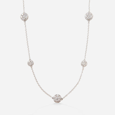 Kate & Mimi Double-sided Diamond Flower Cluster necklace