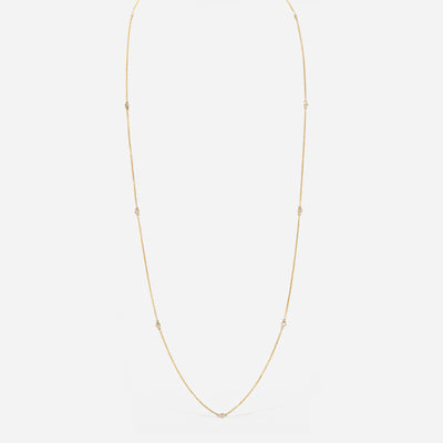 Kate & Mimi Yellow Gold and Diamond Single Bezel Necklace