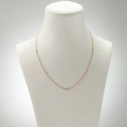 Kate & Mimi Alternating 18K Rose Gold Single and Diamond Bezels Diamond Necklace